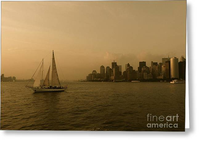 New York Sailing Greeting Card by Avis  Noelle