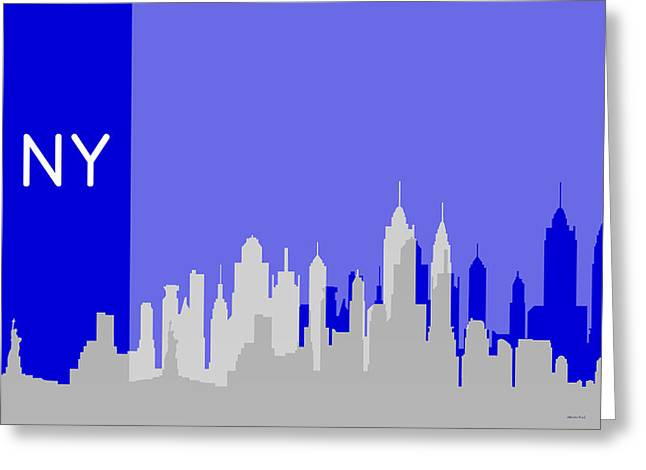 New York Shadows Greeting Card