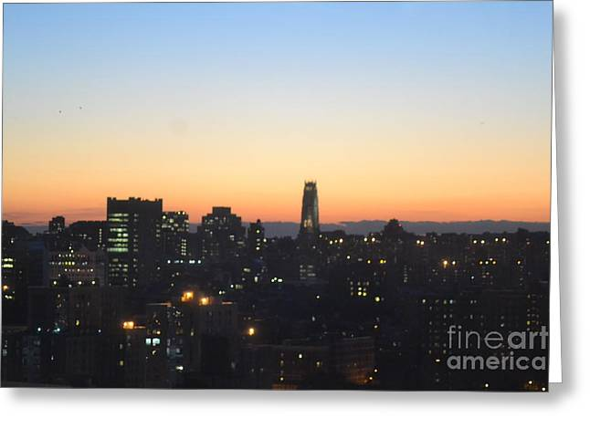 New York Skylight Greeting Card by Robert Daniels