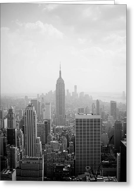 New York Skyline Greeting Card by Allan Millora Photography