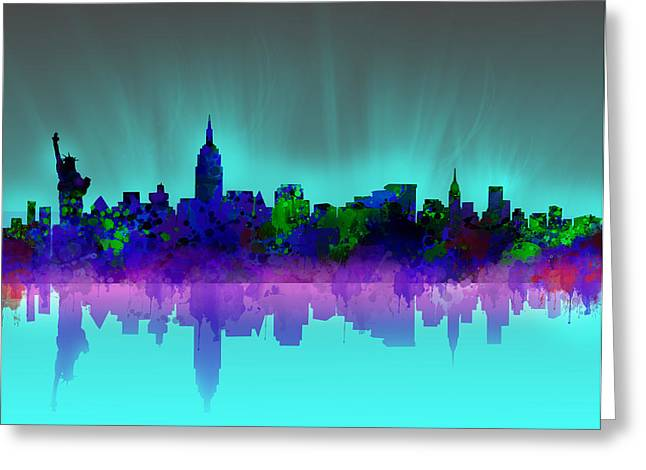 New York Skyline Gradient Greeting Card