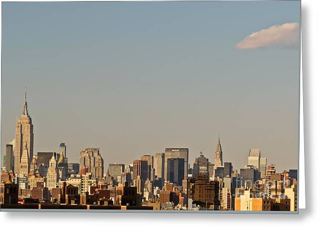 Greeting Card featuring the photograph New York City Skyline by Kerri Farley