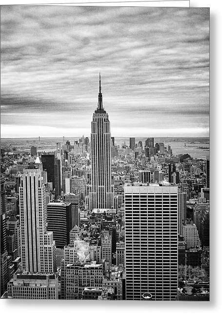 Greeting Card featuring the photograph Black And White Photo Of New York Skyline by Dave Beckerman
