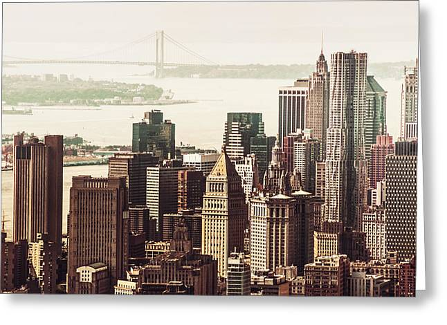 New York Skyline Greeting Card by Vivienne Gucwa
