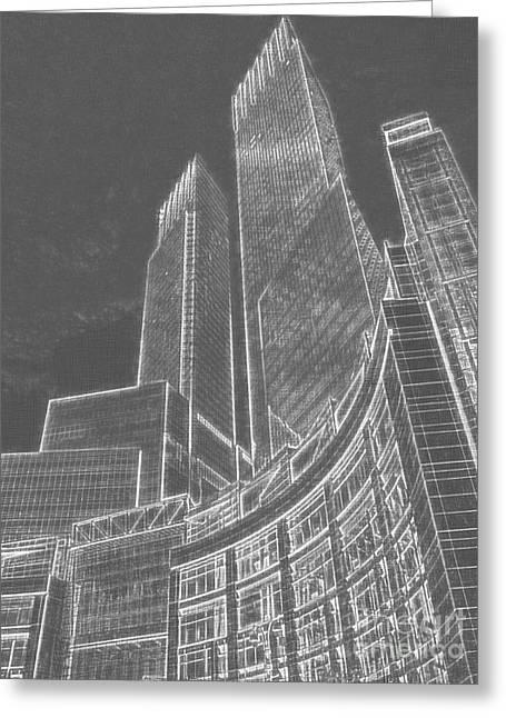 New York Skylines Greeting Card by Celestial Images