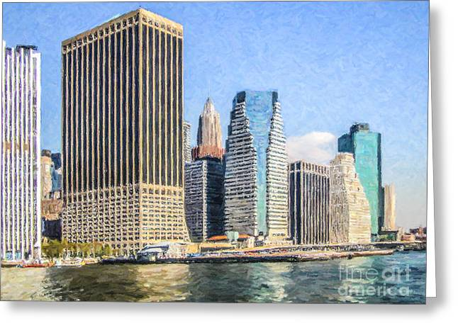 New York Skyscrapers Greeting Card by Liz Leyden