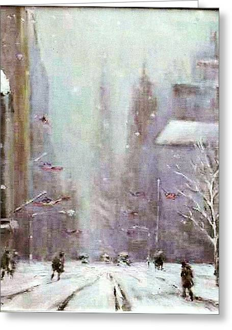 New York Snow Day Greeting Card