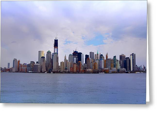 New York - Standing Tall Greeting Card by Bill Cannon