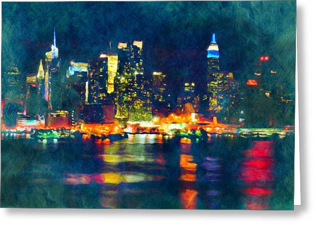New York State Of Mind Abstract Realism Greeting Card