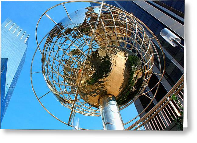New York Steel Globe Greeting Card