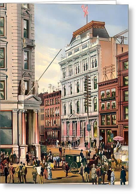 New York Stock Exchange 1882 Greeting Card