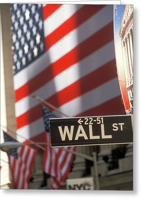 New York Stock Exchange And Wall Street Greeting Card by Jim West