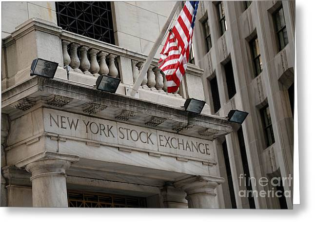 New York Stock Exchange Building Greeting Card by Amy Cicconi