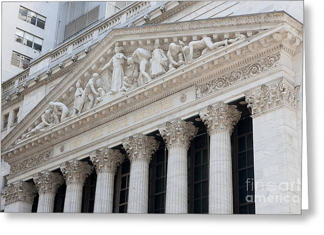 New York Stock Exchange I Greeting Card by Clarence Holmes