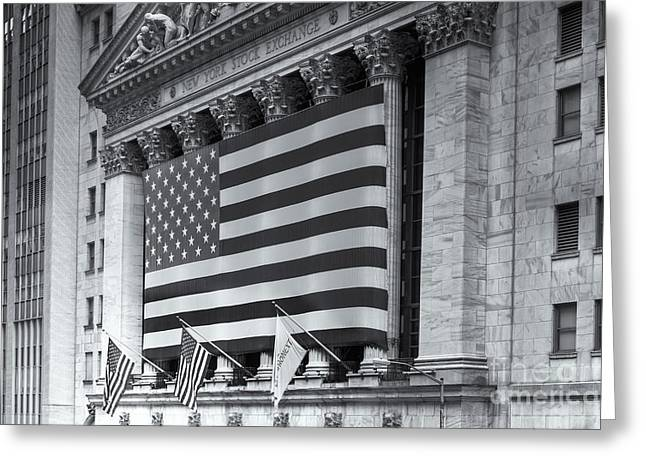 New York Stock Exchange Iv Greeting Card by Clarence Holmes