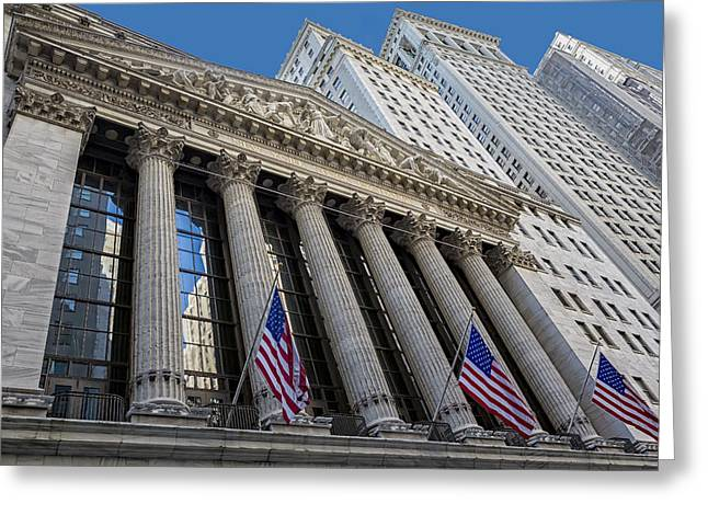 New York Stock Exchange Wall Street Nyse  Greeting Card by Susan Candelario