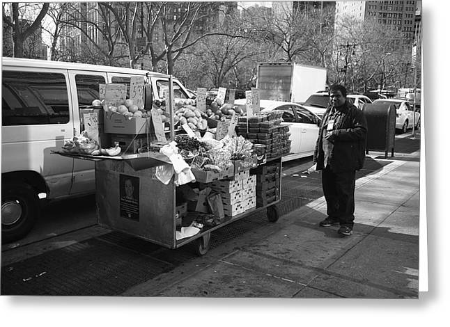 New York Street Photography 5 Greeting Card by Frank Romeo