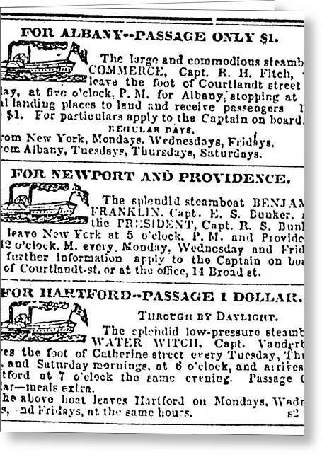 New York Sun, 1833 Greeting Card by Granger