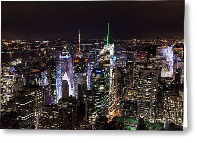 New York Times Square Greeting Card by Matt Malloy
