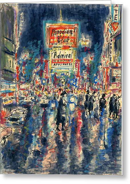 New York Times Square - Watercolor Greeting Card