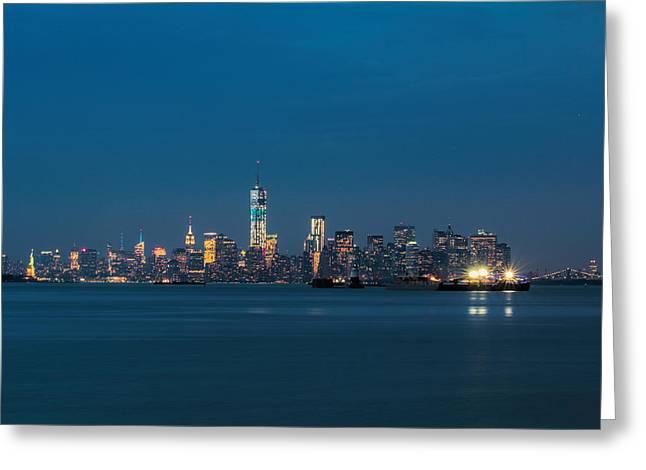 New York Twilight Greeting Card