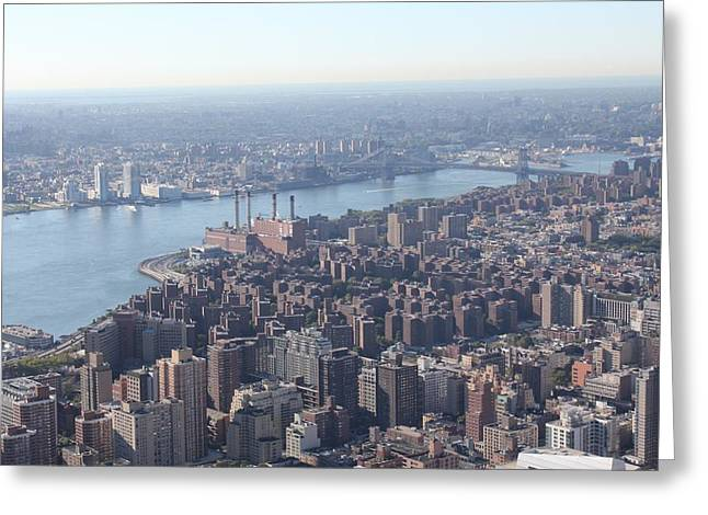 Greeting Card featuring the photograph New York View by David Grant