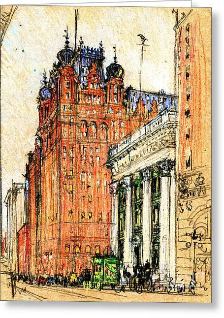 New York Waldorf Astoria Hotel 1904 Greeting Card by Padre Art