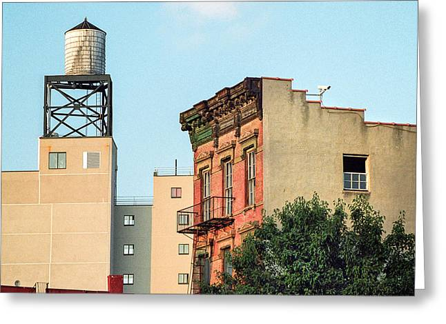 Greeting Card featuring the photograph New York Water Tower 3 by Gary Heller