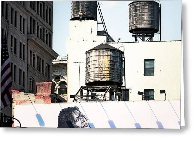 New York Water Towers 15 Greeting Card by Gary Heller