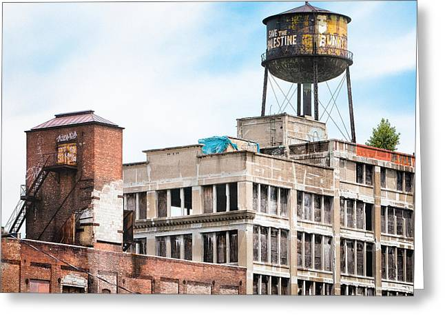 Greeting Card featuring the photograph New York Water Towers 18 - Greenpoint Water Tower by Gary Heller