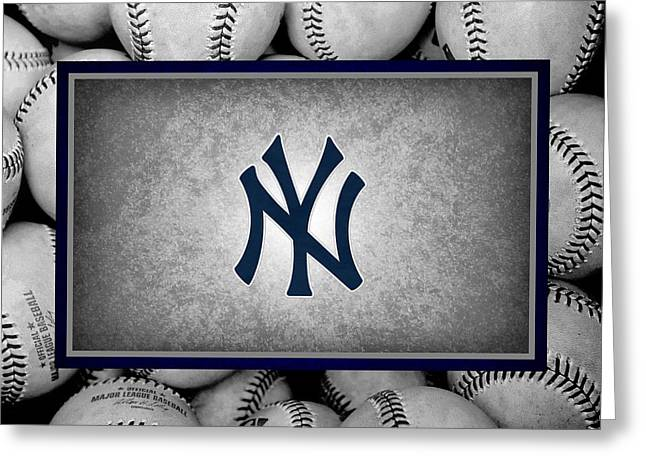 New York Yankees Greeting Card by Joe Hamilton