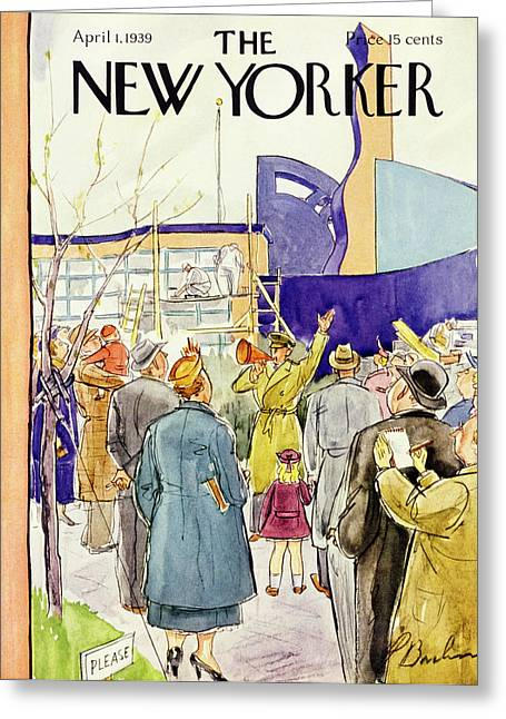 New Yorker April 1 1939 Greeting Card