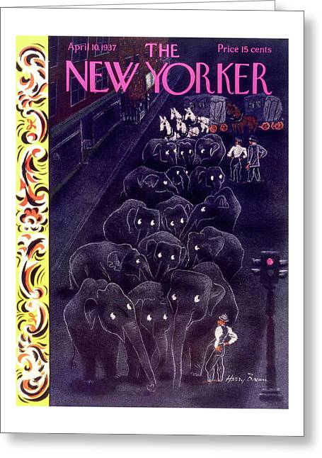 New Yorker April 10 1937 Greeting Card