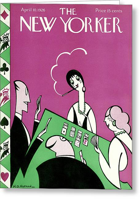 New Yorker April 10th, 1926 Greeting Card by H.O. Hofman