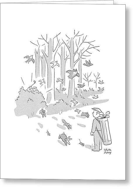 New Yorker April 10th, 1954 Greeting Card