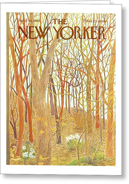 New Yorker April 10th, 1965 Greeting Card