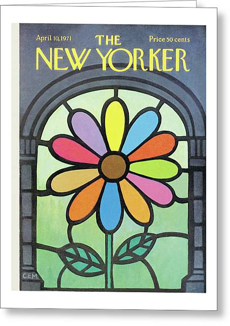 New Yorker April 10th, 1971 Greeting Card