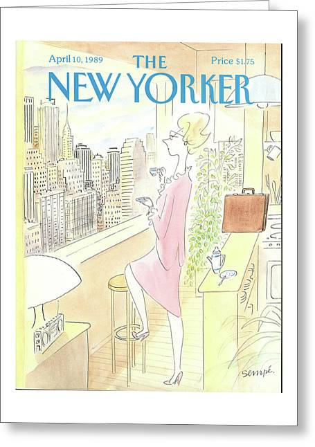 New Yorker April 10th, 1989 Greeting Card