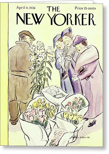 New Yorker April 11 1936 Greeting Card