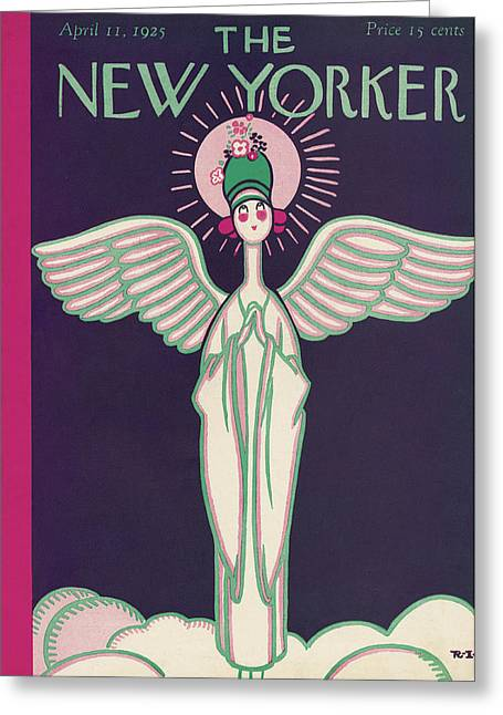 New Yorker April 11th, 1925 Greeting Card by Rea Irvin
