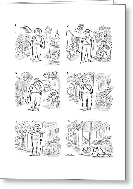 New Yorker April 11th, 1942 Greeting Card by  Alain