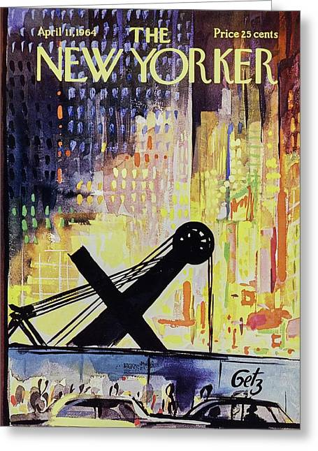 New Yorker April 11th 1964 Greeting Card