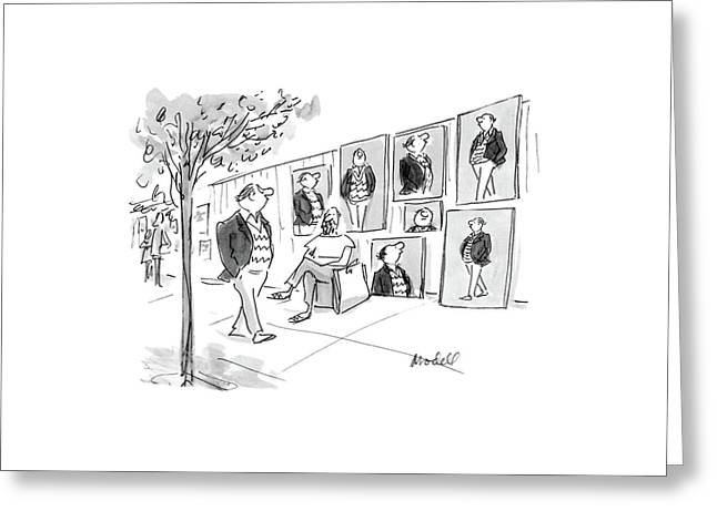 New Yorker April 11th, 1988 Greeting Card by Frank Modell