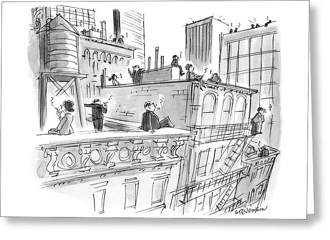 New Yorker April 11th, 1988 Greeting Card by James Stevenson