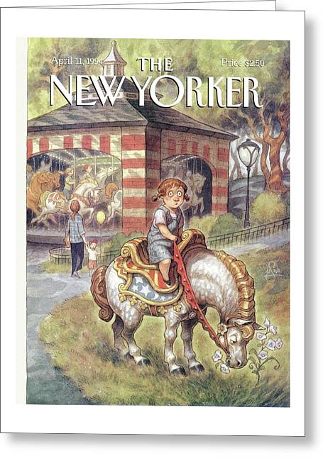 New Yorker April 11th, 1994 Greeting Card