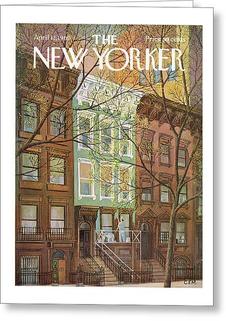 New Yorker April 12th, 1969 Greeting Card