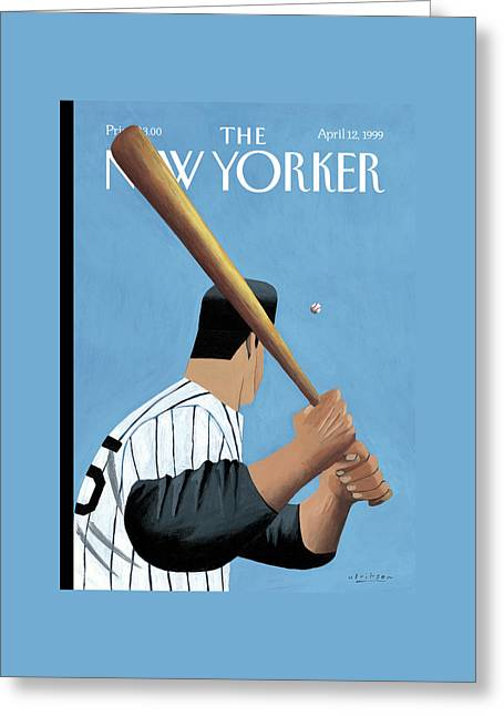 New Yorker April 12th, 1999 Greeting Card by Mark Ulriksen