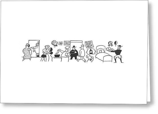 New Yorker April 13th, 1940 Greeting Card