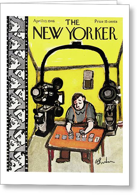 New Yorker April 13th, 1946 Greeting Card
