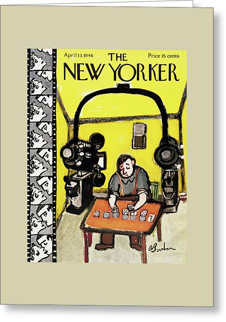 New Yorker April 13th, 1946 Greeting Card by Abe Birnbaum